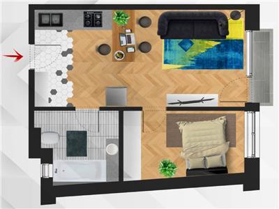 ✅** Apartament semifinisat cu 2 camere, imobil nou, Semicentral - 0% Comision **