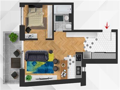 ✅** Apartament semifinisat cu 2 camere, imobil nou, Semicentral 0% Comision **