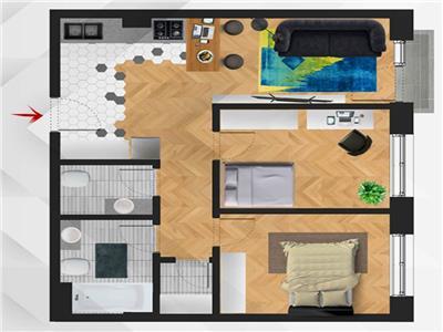 ✅** Apartament semifinisat cu 3 camere, imobil nou, Semicentral, 0% Comision **